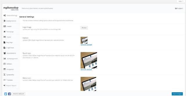 blog maken general settings