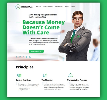 financieel adviseur wordpress template