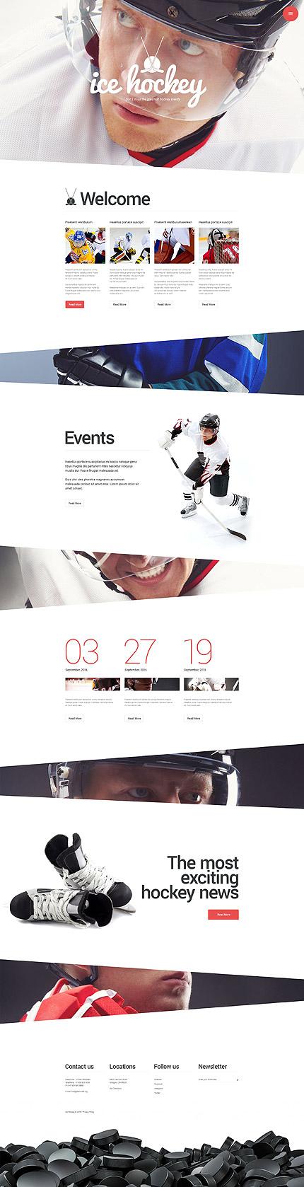 Hockey WordPress Theme eenvoudige wordpress templates