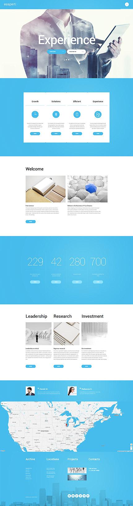 Business Consultant WordPress Theme eenvoudige wordpress templates