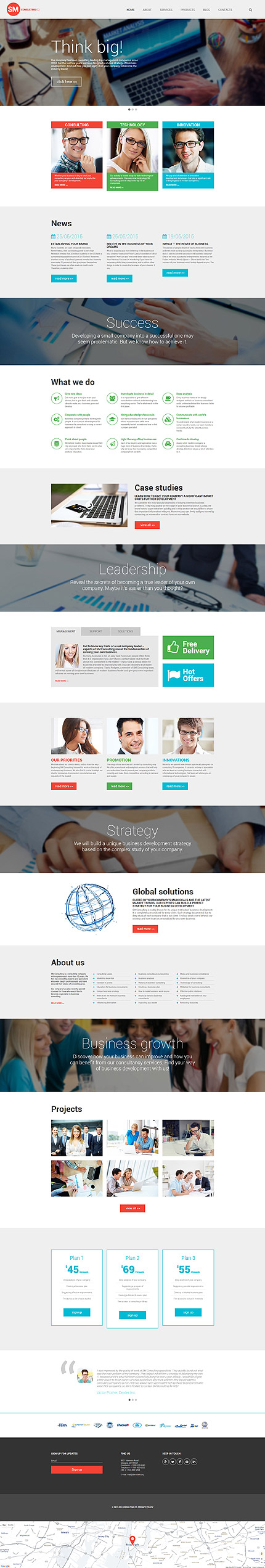 bedrijf wordpress template