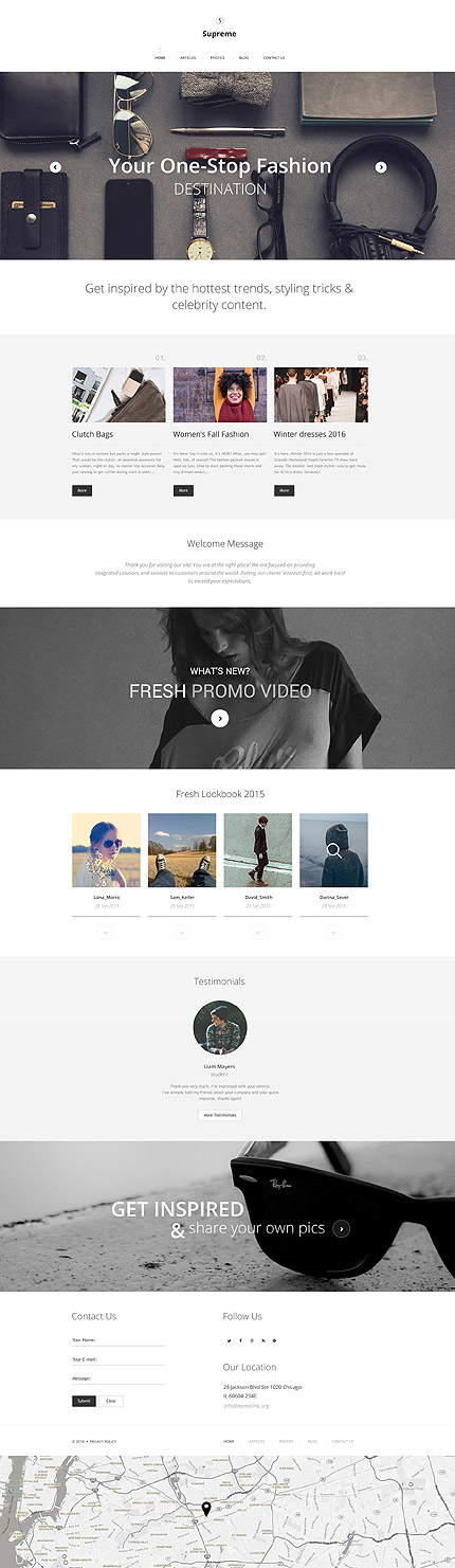 mode wordpress template