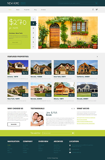 makelaars website template