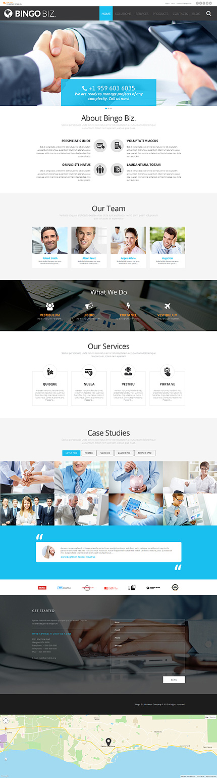 Corporate WordPress Template zzp website template