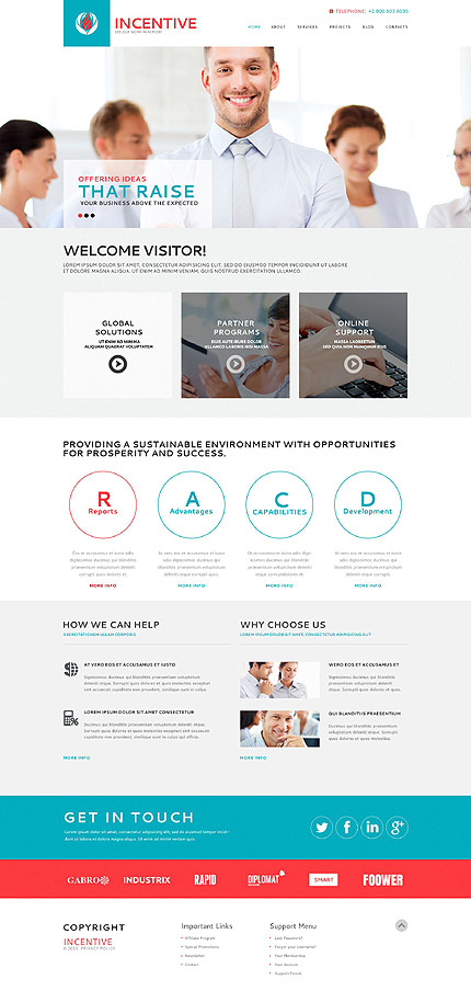Business Centre WordPress Theme