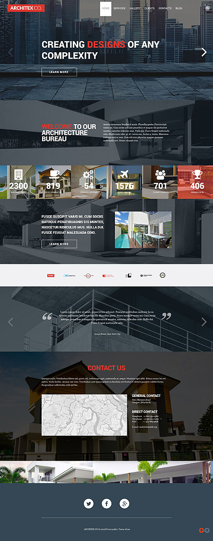 Architecture WP Template