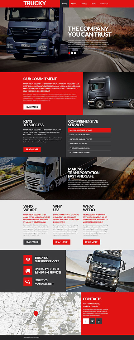 transport wordpress template