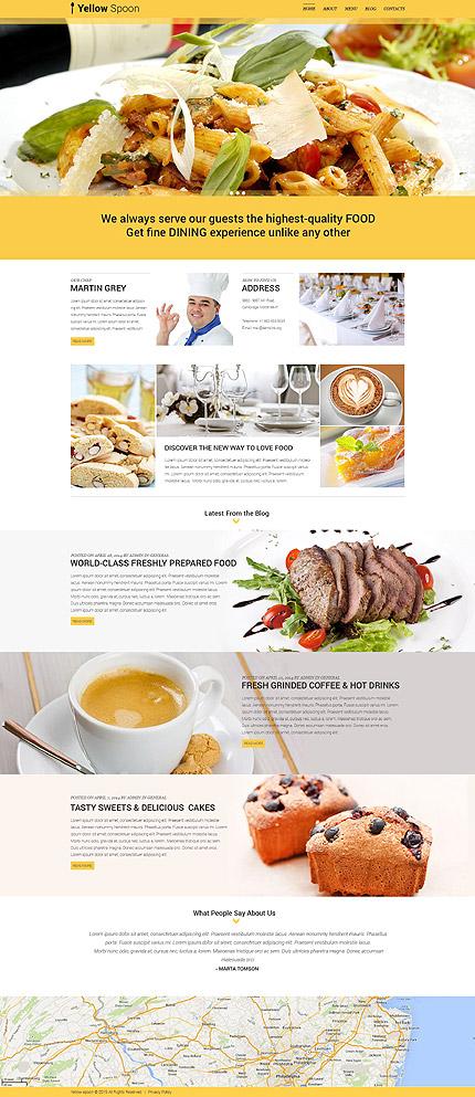 Restaurant Management Company WP Theme