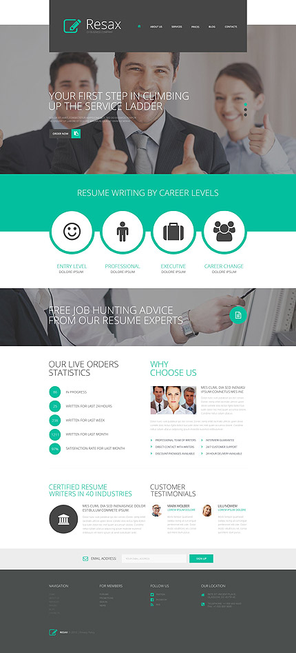 Business Company WordPress Theme