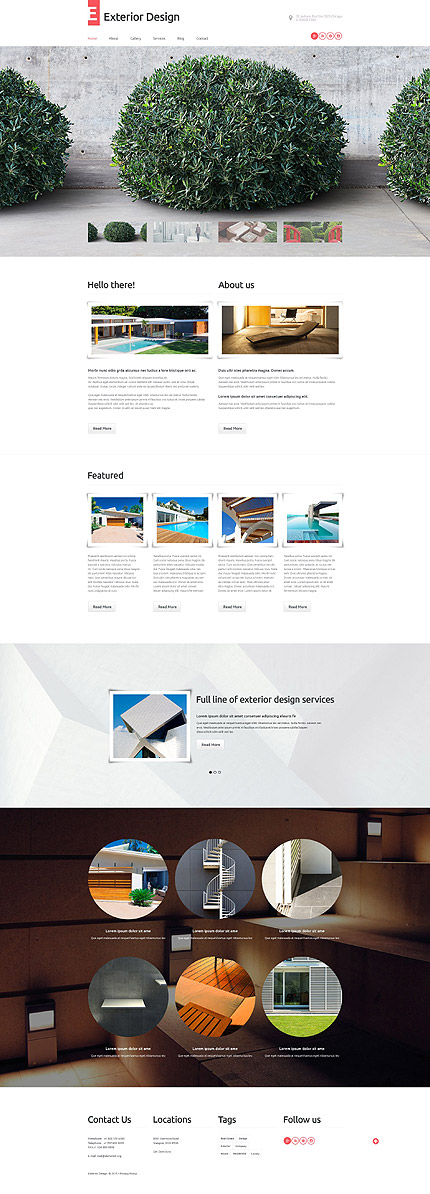 Exterior Design WordPress Template
