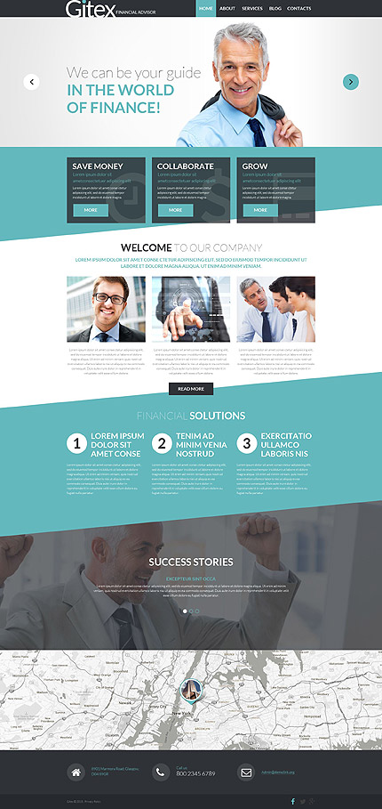 Financial Advisor WP Template zzp website template