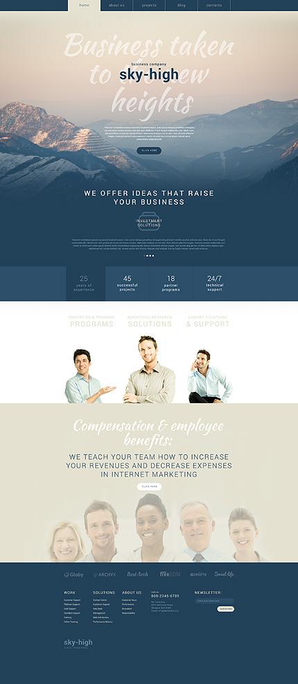 Business Services WordPress Theme zzp website template