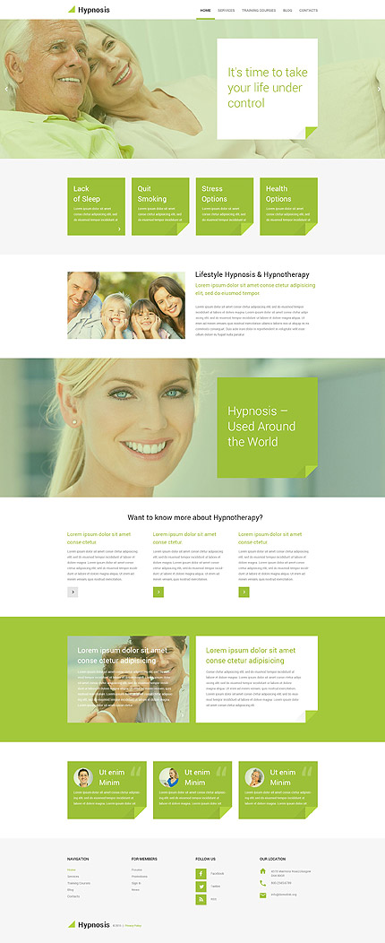 Hypnotherapy WordPress Template
