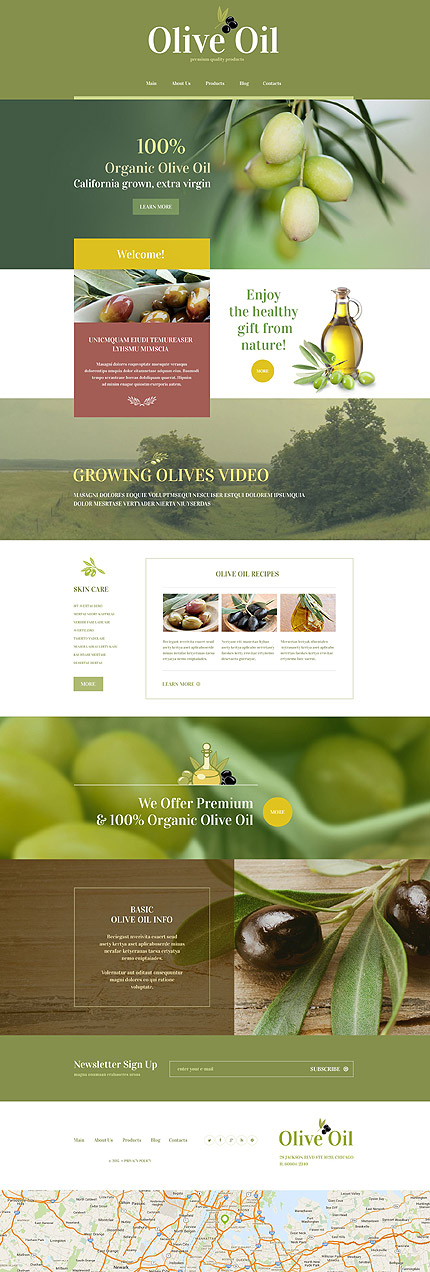 Food Store WordPress Template