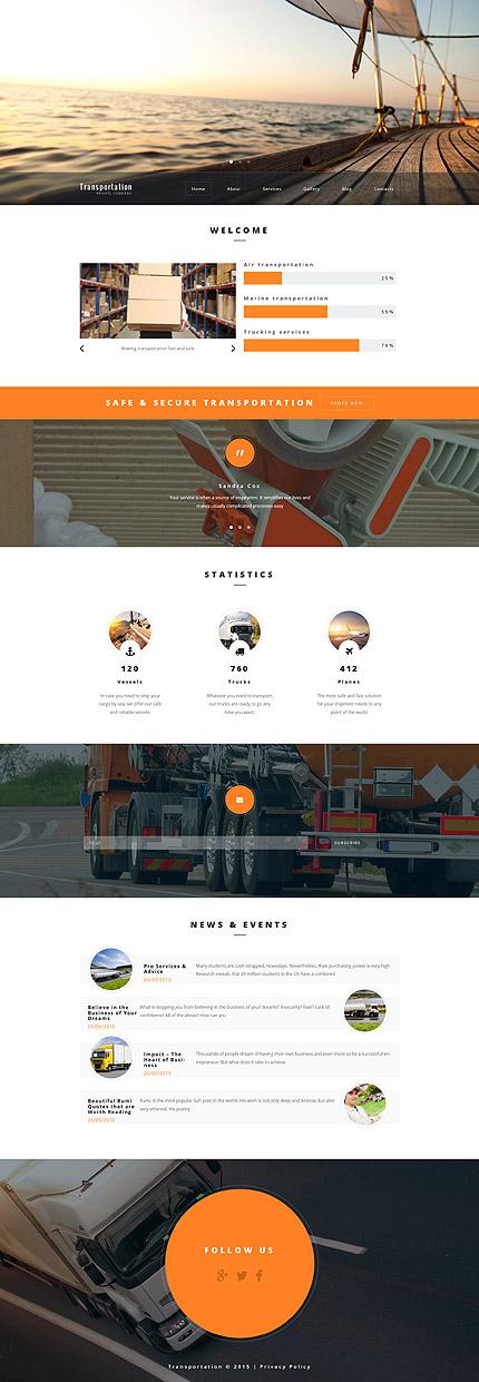Transportation WordPress Template