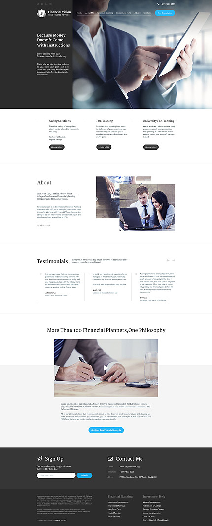 Financial Consultant WordPress Theme wp themes