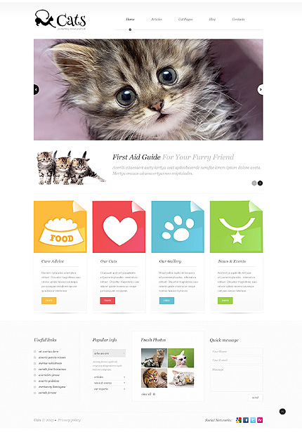 About Katten WordPress Theme Huisdier WordPress Template