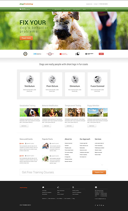 Hond Responsive WordPress Theme Honden Website template