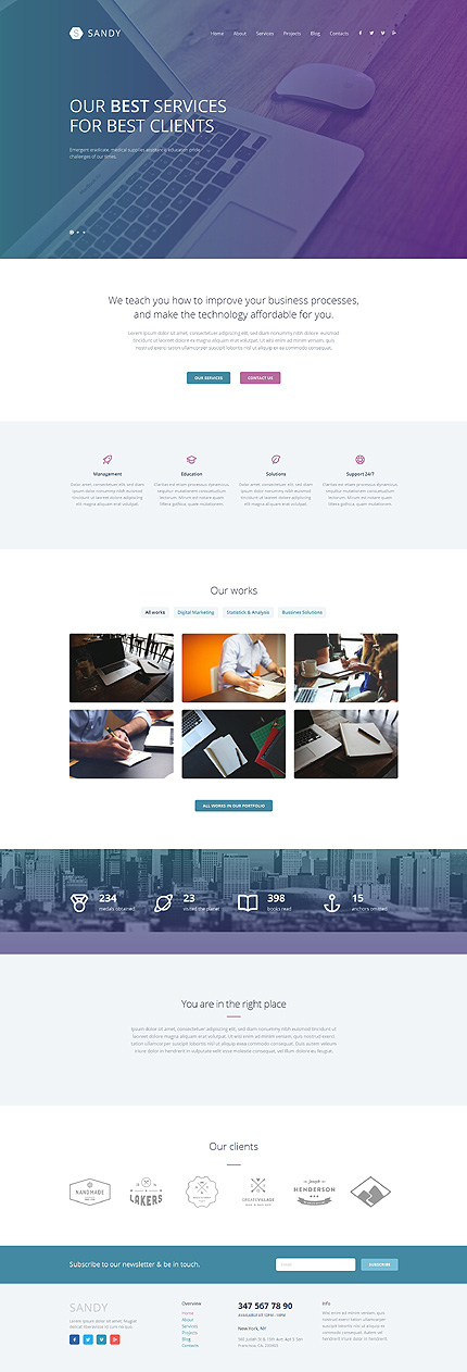 Web Design Responsive WordPress Theme fotografie website template