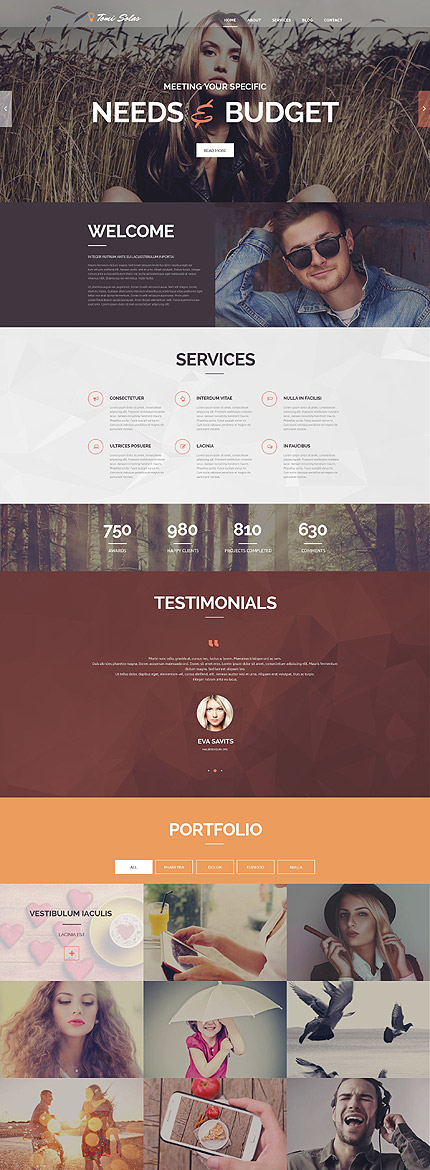Photographer WordPress Theme fotografie website template