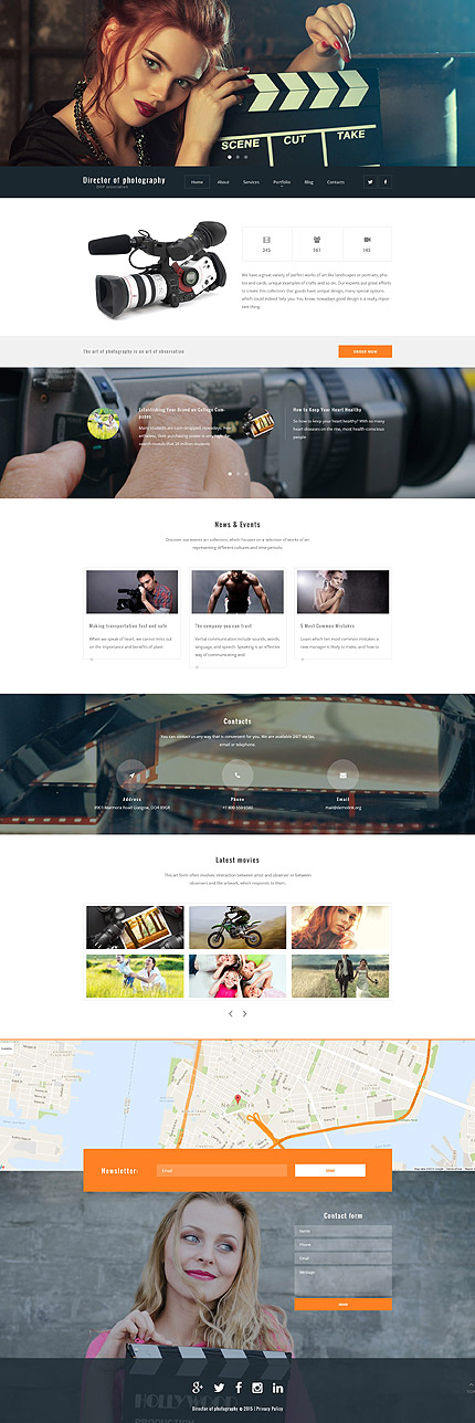 Photography WordPress Theme fotografie website template