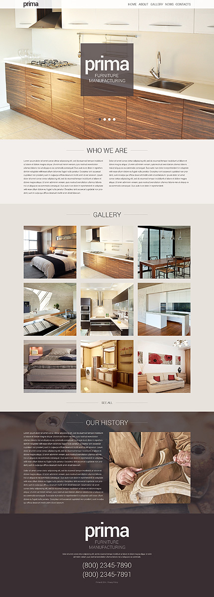 Interieur website template Furniture WordPress Theme