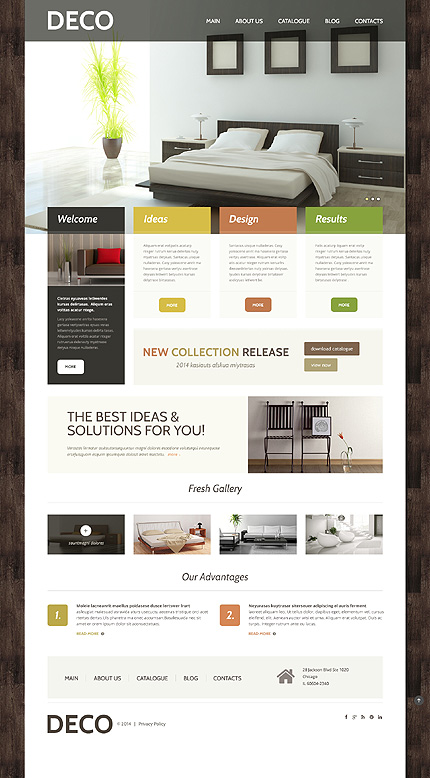 interieur website template Interior Design Responsive WordPress Theme