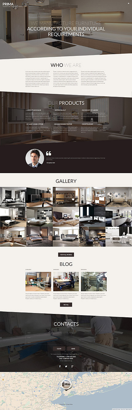 Interior Furniture WordPress Theme interieur website template
