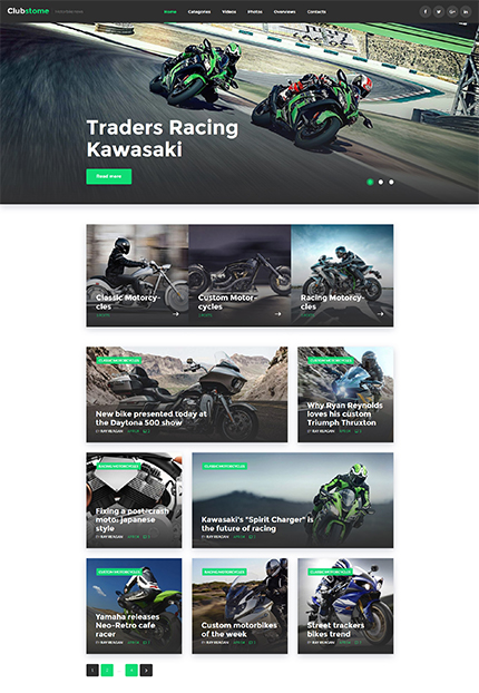 Bikers WordPress Theme wordpress website template