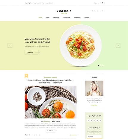 Vegetarian Meals WordPress Theme