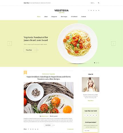 Vegetarian Meals WordPress Theme