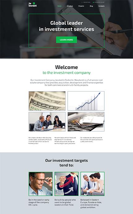 Investment Company WordPress Template