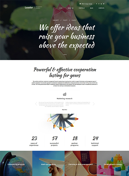 Management Company WordPress Template