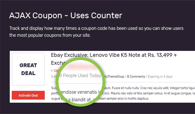 coupon website template tellers
