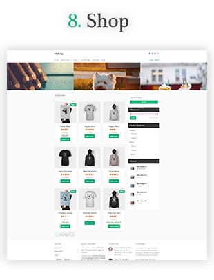 webshop blog website template