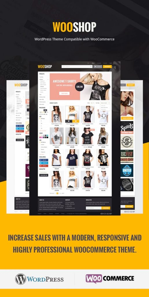 webshop website template layout