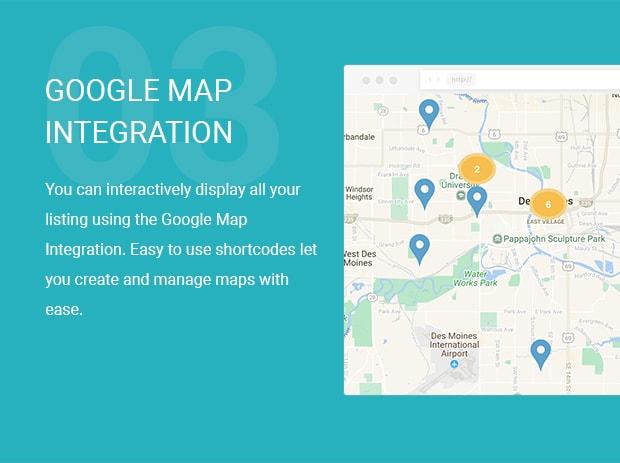 Google Map voor vastgoed