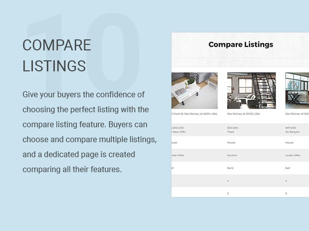 Compare Listings