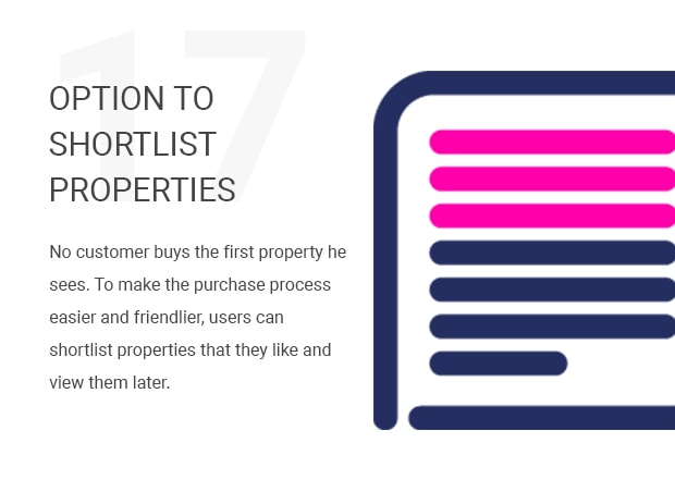 Option to Shortlist Properties