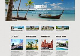 Tropisch Eiland Website Template