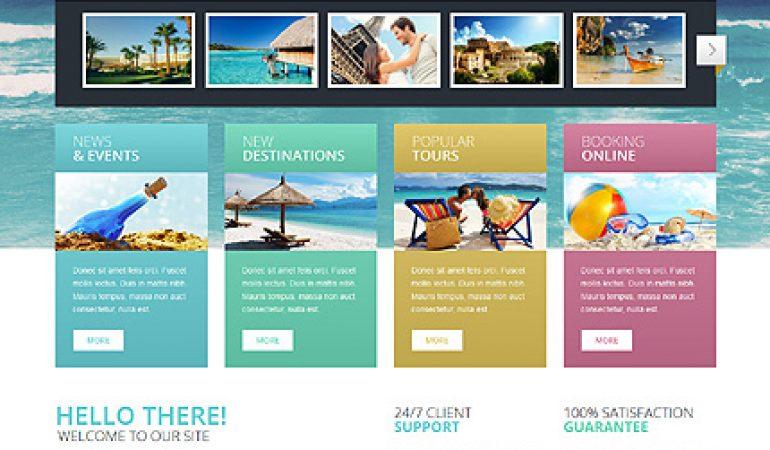 Reisbureau Website Template: De ideale start
