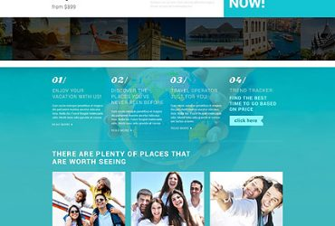 Vakantieblog Website Template