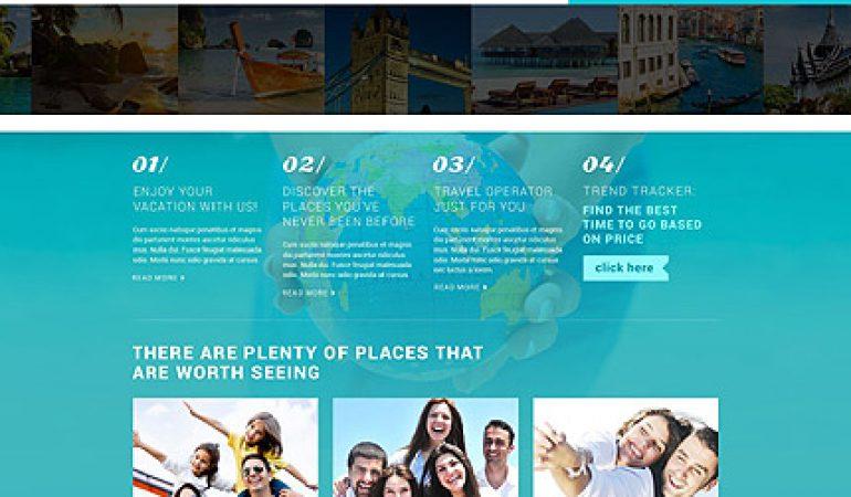 Vakantieblog Website Template