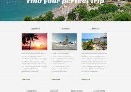 Reizen Website Template