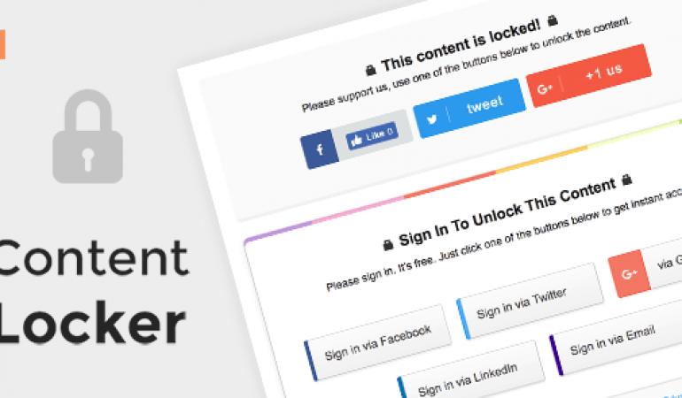 Content Locker Pro – Premium WordPress Plugin