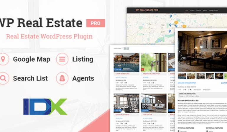 Vastgoed Plugin voor WordPress-WP Real Estate Pro